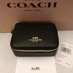 Coach Black Travel Pill Box